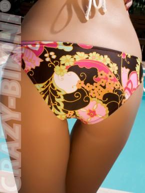 Мини-бикини Феерия с цветочным рисунком и завязками